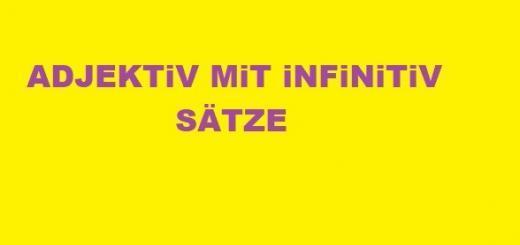 adjektiv mit infinitiv